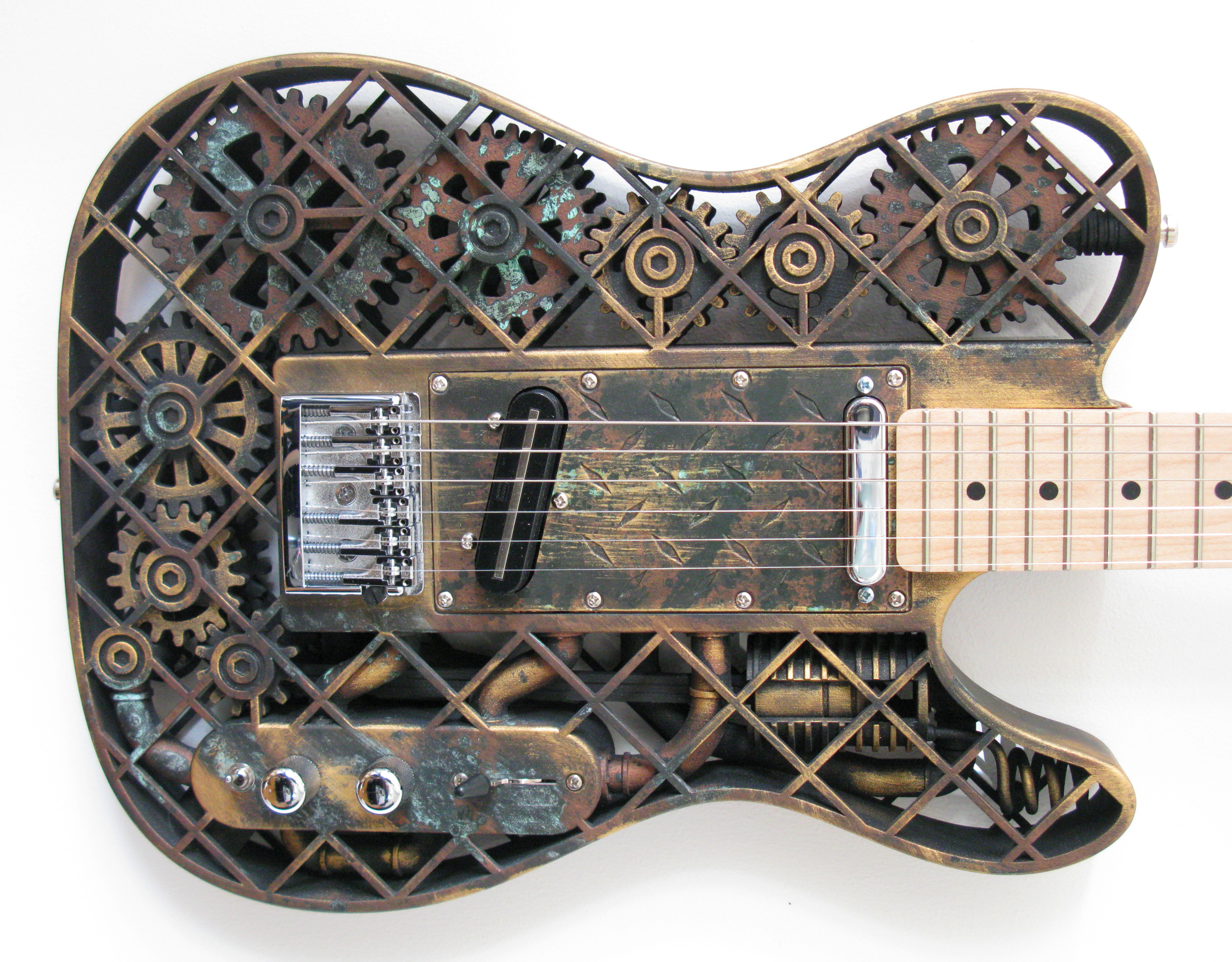 how to make a steampunk electric guitar